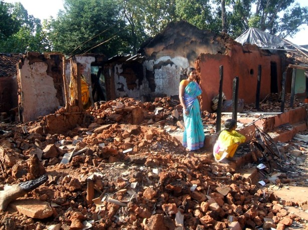 A Christian Home Burned Down by Extremists